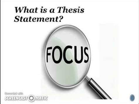 Good And Bad Thesis Statement Examples